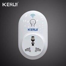 Bezprzewodowy Kerui Indepedent zdalny przełącznik gniazda Wifi inteligentna wtyczka zasilania 433MHz ue US UK AU Standard dla system alarmowy do domu