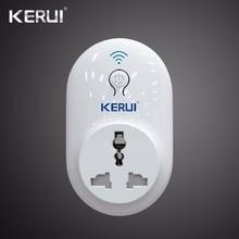Kerui Interruptor de enchufe Wifi remoto inalámbrico, enchufe de potencia inteligente de 433MHz, estándar EU, US, UK, AU, para sistema de alarma de seguridad para el hogar