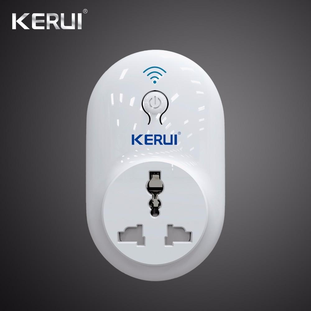 Wireless Kerui Indepedent Remote Wifi Socket Switch Smart Power Plug 433MHz EU US UK AU Standard For Home Security Alarm System