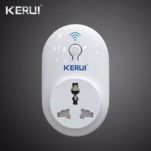 Image 1 - Wireless Kerui Indepedent Wifi A Distanza Interruttore Presa Interruttore Presa Interruttore Intelligente Spina di Alimentazione 433MHz UE STATI UNITI REGNO UNITO AU Standard per La Sicurezza Domestica sistema di allarme