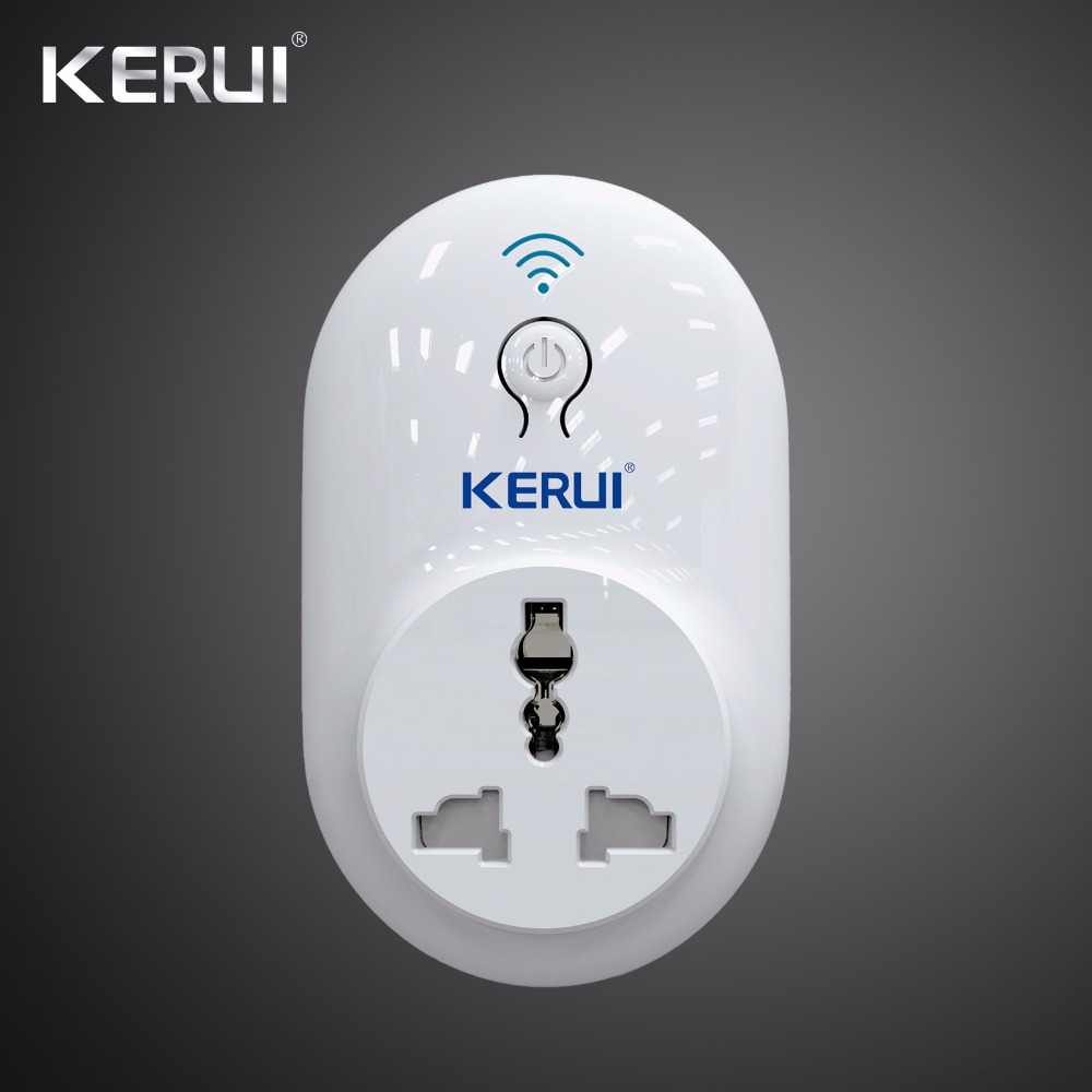 Wireless Kerui Remote Wifi Socket Switch Smart Power Plug 433MHz EU US UK AU Standard for Home Security Alarm System remote socket eu standard smart portable power socket switch travel remote plug 16a socket smart home appliance