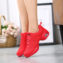 цена на Dance Shoes Women New Soft Outsole Breath Flying Wire Weaving Sneakers Jazz Hip Hop Shoes Female Modern Dance Zapatos Movefun