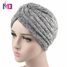 2017 Winter New Fashion Women Knit Turban Twist Headband Thick Wool inside Warmer Chemo Headwear Ladies Hijab Turbante