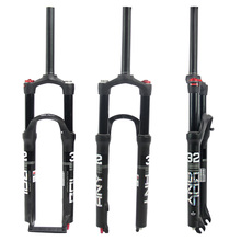 лучшая цена Double Air Chamber Bike Front Fork Aluminum Air Gas Shock Absorber 100mm 26/27.5/29inch MTB Mountain Bicycle Part