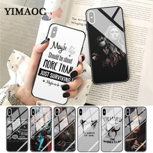 YIMAOC Heda Lexa The 100 TV Show Coque Glass Phone Case for Apple iPhone XR X XS Max 6 6S 7 8 Plus 5 5S SE