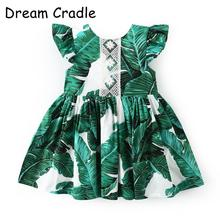 Dream Cradle / Brand Baby Dress Banana Leaves Girl Dresses Frocks