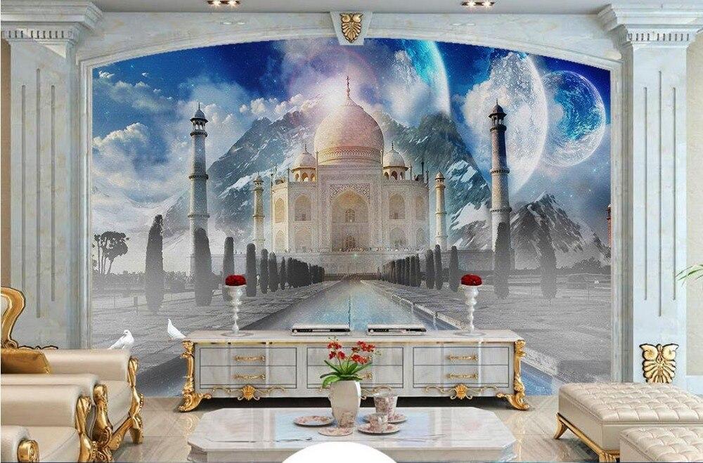 European 3D Wallpaper Murals Living room photo palace 3D roman