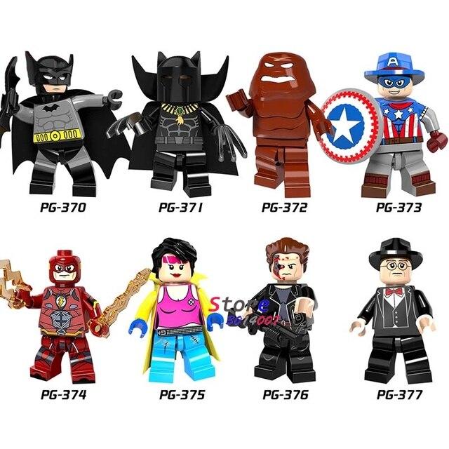 Único Flash de Super Heróis X-Men Clayface Pantera Cowboys Batman América modelos blocos de construção de tijolos brinquedos para as crianças kits