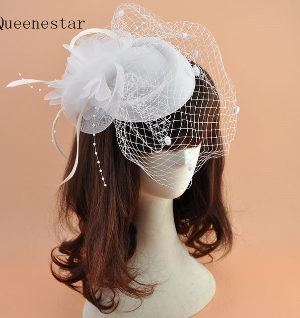 White Green Dot Wedding Veil Fascinator Hat For Bride Fashion Floral  Feather Birdcage Hair Clip Cocktail Party Ladies Headdress 8f1d6fce956