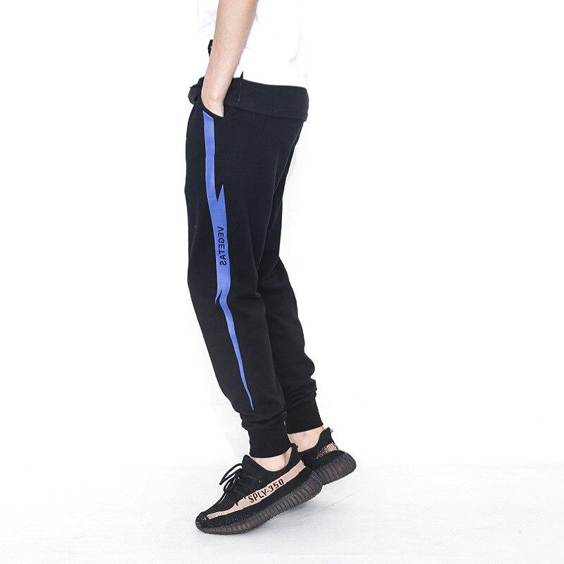 Autumn Winter 2017 Men Pants Slim Fit Casual Long Pant Sportswear Cotton printing Mens Loose Plus Size Navy Season Sweat Pant