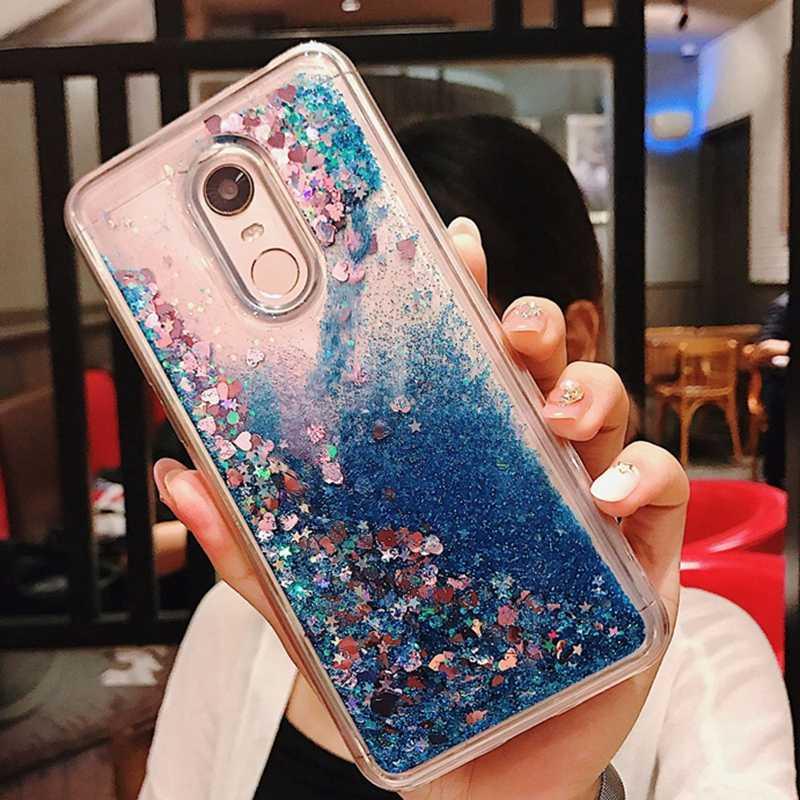 reputable site e6d10 5f64e Redmi 5 Plus Glitter Liquid Case Luxury Soft Silicon Back Cover For Xiaomi  Redmi Note 4 4X 5 Pro Coque Case Etui Hoesje Capinha