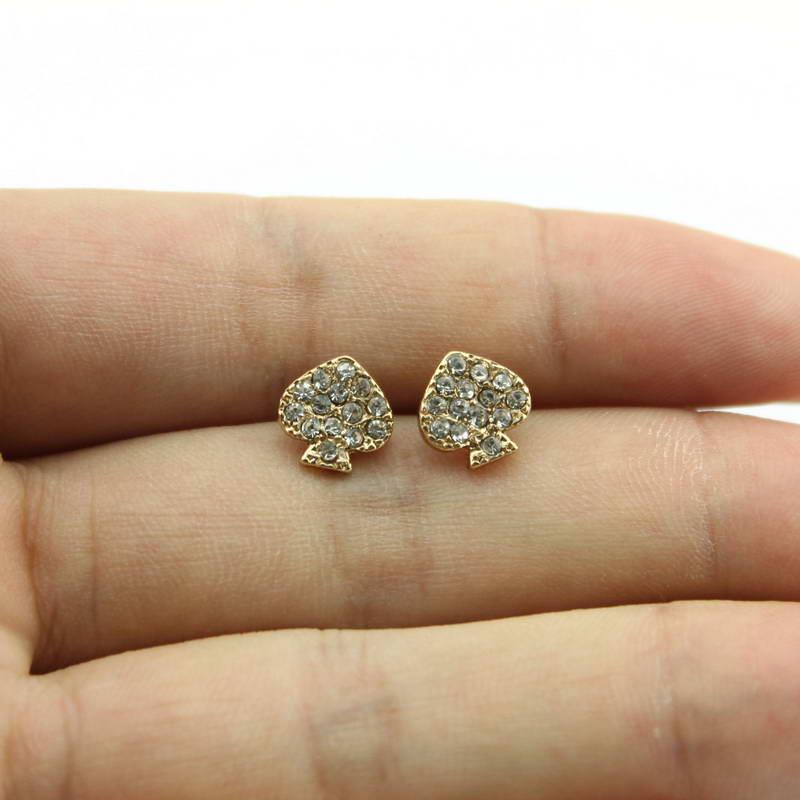 2019 Hot Brand Designer Mini Crystal Heart Stud Earrings Women Jewelry Gold Love Earrings Everyday Jewelry Valentines Day Gift