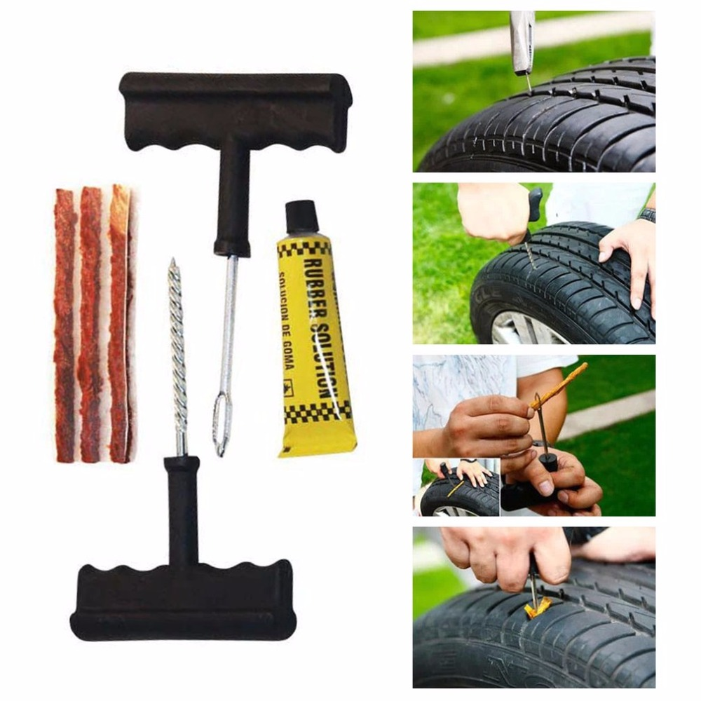 Practical Outdoor Vehicle Safety Setting Car Triangle Emergency Warning Sign First aid Kit Tire Repairing Tools