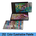 Envío gratis Professinal Eyeshadow Palette 252 colores de sombra de ojos, Makeup sombra de ojos Set 3 Layer Design Dropshipping