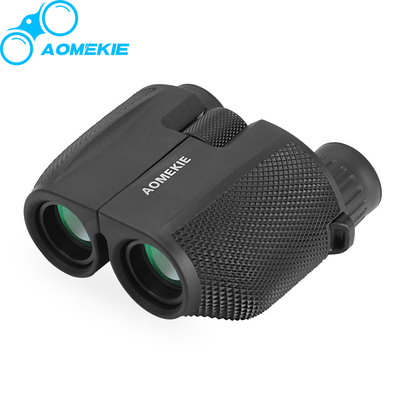 AOMEKIE 10X25 Binoculars Protable HD Hunting Telescope Wide Angle Viewing Optical Green Film Lens Birdwatching Waterproof hot new high quality mini toy car rc car baby children car gift cheap toy diecast metal alloy model toy car gift for kids