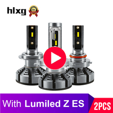 HLXG 4000K 5000K 6500K H7 Led H4 With Lumileds Luxeon ZES Chip Car Headlight Bulbs H1 LED H11 H8 HB3 9005 HB4 Auto Lamp12000LM