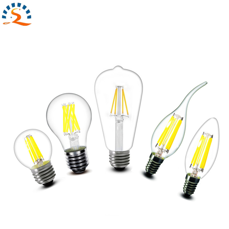2w 4w 6w 8w E27 E14 B22 A60 ST64 G45 C35 B10 CA35 LED Filament Lamp Warm LED Bulb 220v AC Addison retro chandelier candle lights 1pcs e27 e14 220v 230v 240v a60 g45 c35 2w 4w 8w warm white led filament candle bulb lamp light