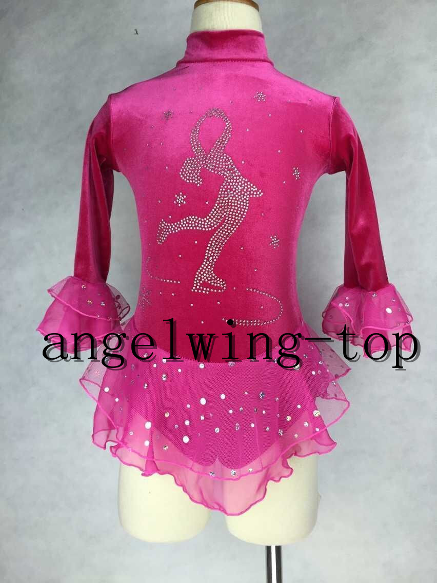 42e0023941890 Dark Green Ice Skating Dress Competiton Figure Skating Clothing For ...