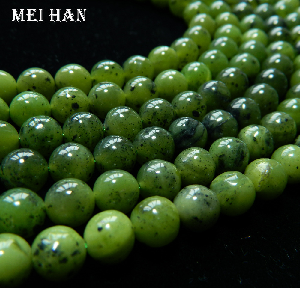 Mei Han Xing 50beads/set/34g Natural Grade 8mm Jade