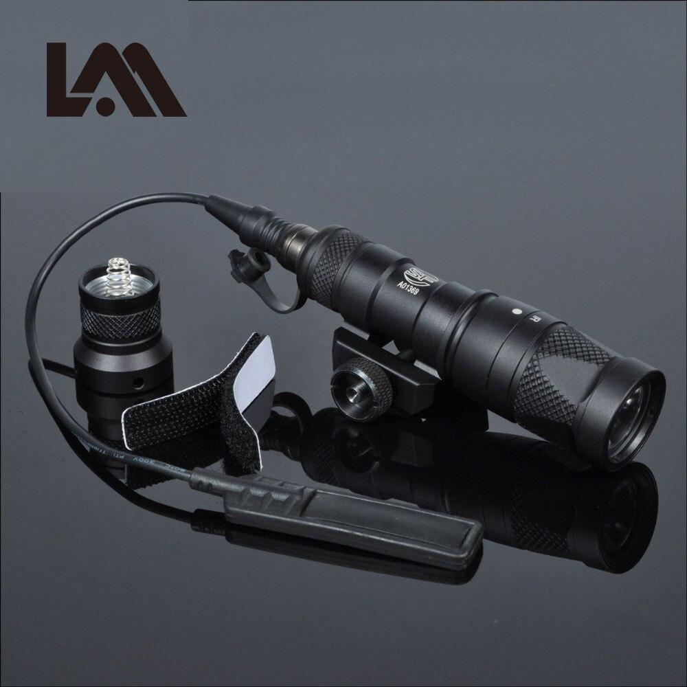 LAMBUL M300V Tactique lampe de Poche Militaire M300 Arme Légère Avec Constante Stroboscopique momentanée Sortie Pour 20mm Picatinny Rail