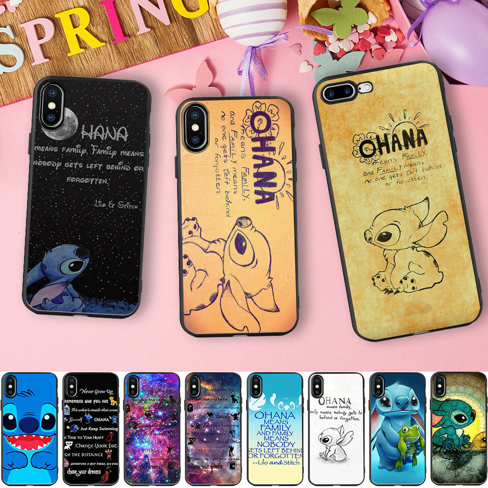 Soft Silicone Phone Case For <font><b>Samsung</b></font> Galaxy S7 edge <font><b>S8</b></font> S9 Cover Lilo Stitch Ohana Funda <font><b>Capinha</b></font> <font><b>de</b></font> <font><b>Celular</b></font> image