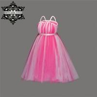 Принцесса Туту Дети юбка-пачка для девочек платье розовое Сетчатое Тюль Девушка Платья для женщин принцесса костюмы дети Обувь для девочек ...
