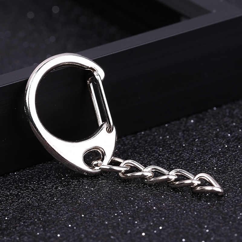 Alta qualidade 1.2x8mm 4-seção corrente abertura chaveiro pendurado chaveiro charme chaveiro chaveiro acessórios 5 pçs