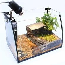 Reptiles Amphibian Aquatic Turtle Tank Kit Aquarium Basking Light Platform Filter Gravel Substrate shrimp Tropical Fish bowls