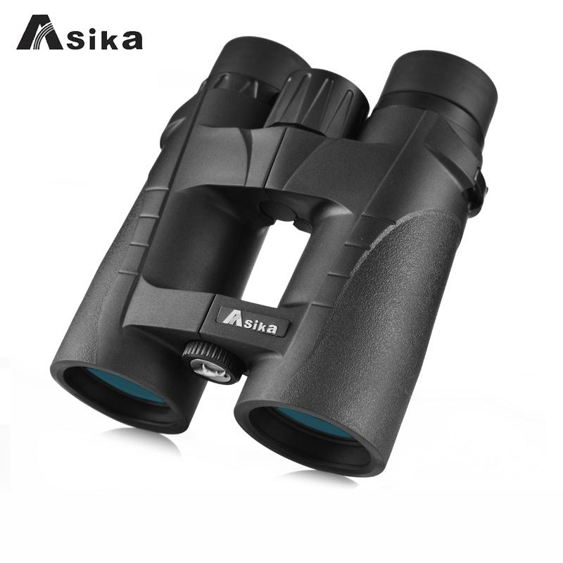 Asika Binoculars Telescope Magnification 8x42 Professional Hd Telescope Handheld Binocular Bird Watching Waterproof Bak4 Compact 8x magnification high quality central zoom bak4 low light night vision binoculars telescope 8x42
