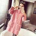 2016 Spring Plus Size Long Sleeved Cotton Maternity Dresses Clothing  Loose Bottoming Sweater Tops For Pregnant Women Clothes XL