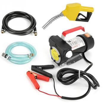 12V 155W Oil Pump 40L/min Electric Fuel Diesel Kerosene Oil Transfer Pump Kit Electric Fuel Transfer Pump diesel fuel filter assembly for pl420 612600082775 612600081294 electric pump filter