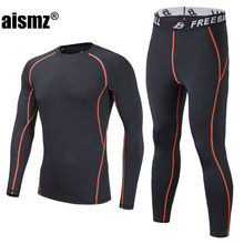 Aismz New Winter Men Thermal Underwear Sets Fleece Warm Long Johns Breathable Thermo Underwear Quick Dry Top and Pant