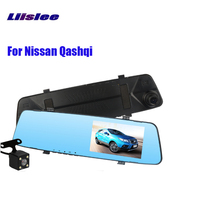 LiisLee new 4.5 inch IPS screen Dvr For Nissan Qashqi front and rear HD night vision recorder rearview mirror gravity sensor
