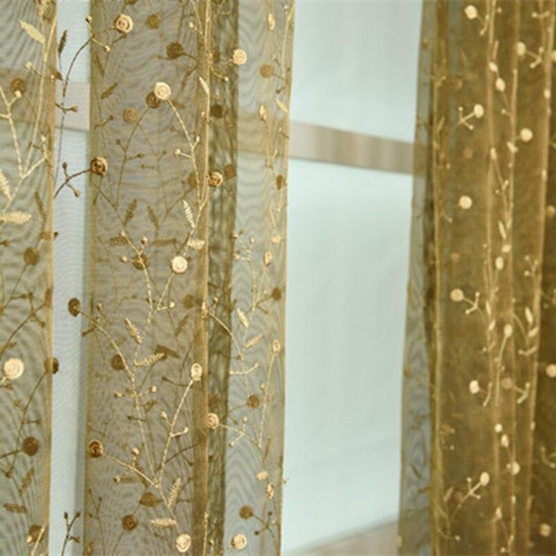 Hímzett tüll függönyök nappali hálószoba amerikai stílusú - Lakástextil