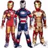 Boys Child Avengers Iron Man God Color Mask Costume Child Halloween Costume Boys Marvel Movie Superhero