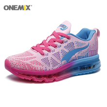 Onemix Air Cushion Running Shoes for Women Jogging Shoes Lightweight Sport Sneakers Outdoor Athletic Walking Breathab onemix men flash running shoes air cushion wearable sport shoes breathable comfort fitness sneakers outdoor casual walking shoes