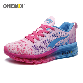 Onemix Air Cushion Running Shoes for Women Jogging Shoes Lightweight Sport Sneakers Outdoor Athletic Walking Breathab onemix women s running shoes knit mesh vamp lightweight run sneakers woman cushion for outdoor jogging walking red gold white