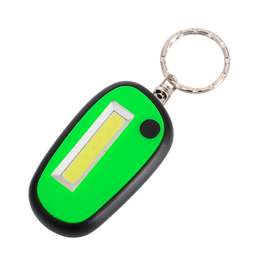 High Quality 1 PC Mini Keychain Pocket Torch COB LED Flash Light Lamp Multicolor 3 Mode