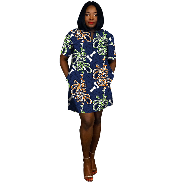 fb1053701ef42 Summer Fashion Women Unique Design Dress Short Sleeve African Straight  Dresses Festival Costume party Africa clothing customize