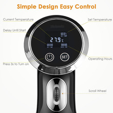 Sous Vide Precision Cooker, Sturdy Immersion Circulator , 1500 Watts Vacuum Food Cooker, LCD Digital Display, Stainless Steel