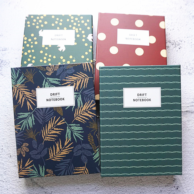 Dreamland Big Hard Cover Notebook Functional Dairy Journal Lined Blank Papers Lock Gift Box