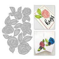 YaMinSanNiO Rose Blume Metall Schneiden Stirbt Blatt Scrapbooking Sterben Schnitte Für, Der Karte Album Dekorative Präge Handwerk Schablonen