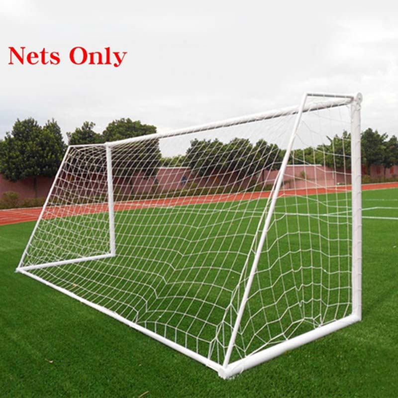 Full Size Football Net For Soccer Goal Post Junior Sports Training 1.8m x 1.2m 3m x 2m Football Net Soccer Net image