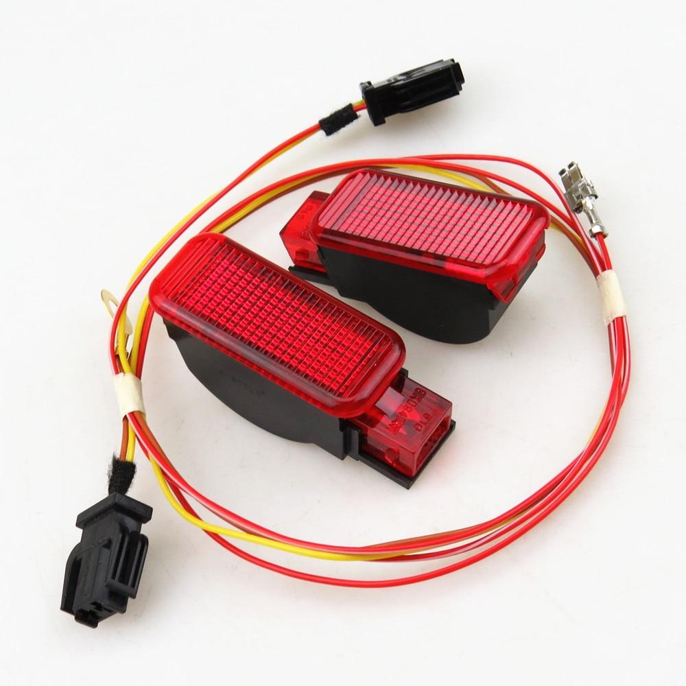 A-STYLE Voiture Panneau De Porte Rouge voyant Avec Plug Harnais Pour A7 A8 Q3 Q5 TT A3 S3 A6 S6 A4 S4 R8 RS3 RS4 8KD947411 8KD 947 411