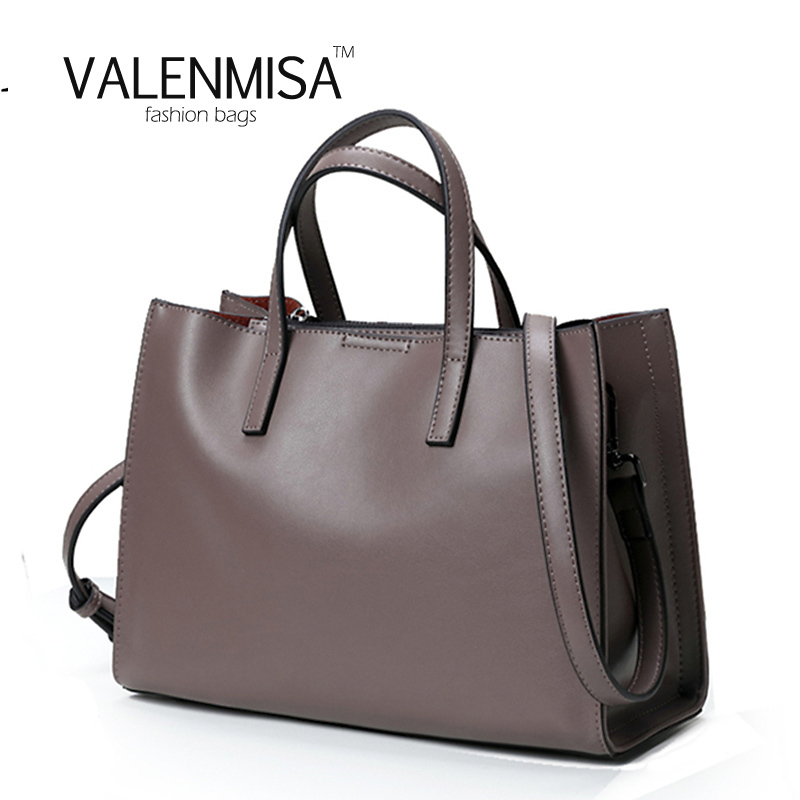 VALENMISA High Quality Cow Real Genuine Leather Bags Ladies Causal Tote Designer Female Shoulder Messenger Bags For Women 2018 vm fashion kiss real leather luxury handbags ladies bags designer shoulder bags for women female messenger bags high quality
