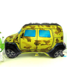 26 inches Camouflage Car Foil Balloons Camo Car Ballons Children Inflatable Classic Toys Helium Balloon Party Decoration Baloon(China)