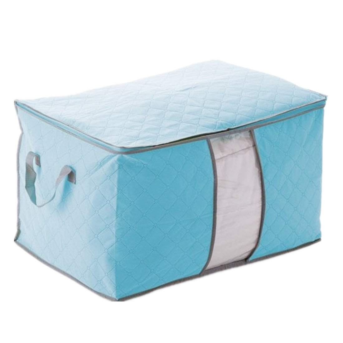 Blue Cover Of Storage Storage Bag Box Foldable For Quilt Clothing 60X42X36cm