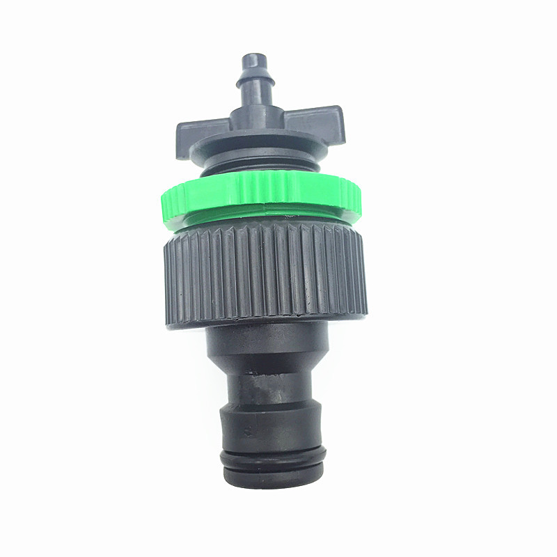 1PCS Good quality Tap Connector Quick Connector To 1/4 inch (4 / 7mm pipe) Tubing Garden Irrigation hot sale in Russia Easy inst