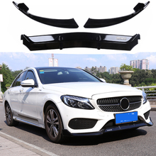 C43 ABS black front bumper lip for Mercedes-Benz W205 C180 C200 C300 with Amg sports 4 doors (not suitable C63)