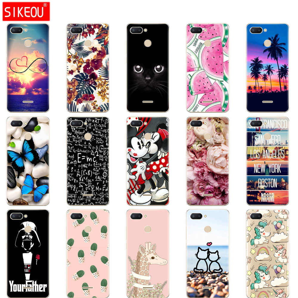 silicone case for Xiaomi Redmi 6 Case Full Protection Soft tpu Back Cover Case For Xiaomi Redmi6 bumper hongmi 6 Coque butterfly